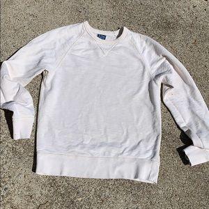 J. Crew Vintage Fleece White Sweatshirt S